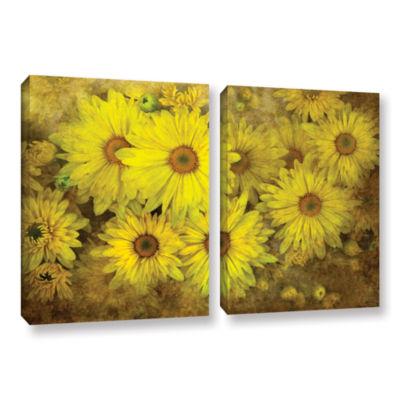 Brushstone Bright Sunflowers 2-pc. Gallery WrappedCanvas Wall Art