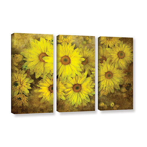 Bright Sunflowers 3-pc. Gallery Wrapped Canvas Wall Art