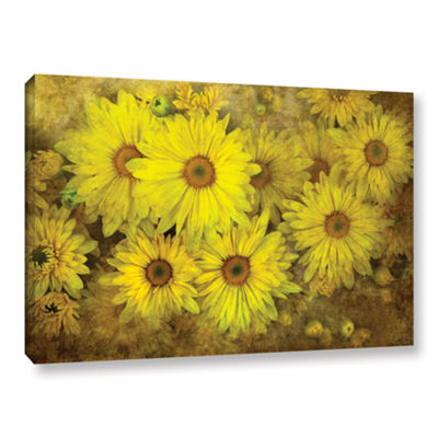 Bright Sunflowers Gallery Wrapped Canvas Wall Art