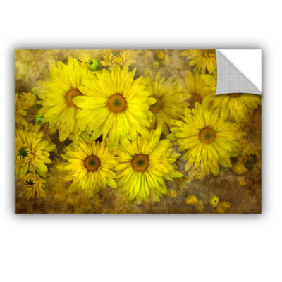 Brushstone Bright Sunflowers Removable Wall Decal