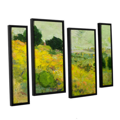 Brushstone Brighton 4-pc. Floater Framed StaggeredCanvas Wall Art