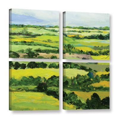 Brushstone Brightwalton Green 4-pc. Square GalleryWrapped Canvas Wall Art