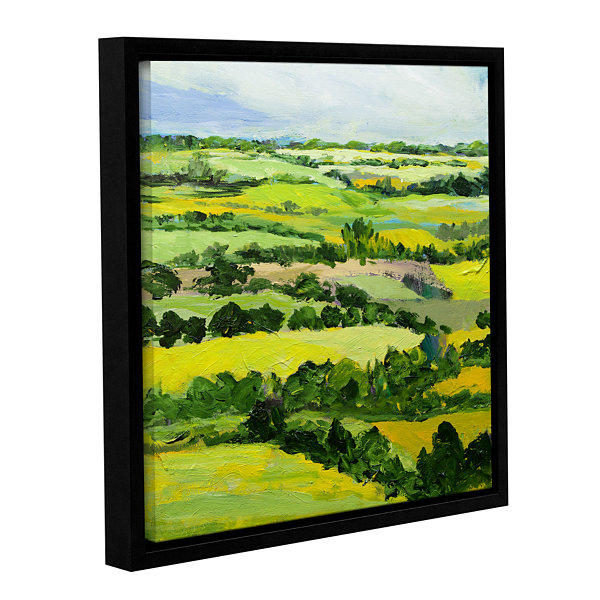 Brushstone Brightwalton Green Gallery Wrapped Floater-Framed Canvas Wall Art