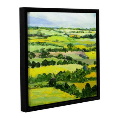 Brushstone Brightwalton Green Gallery Wrapped Floater-Framed Canvas Wall Art