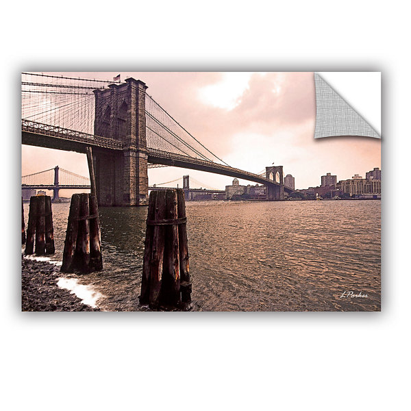 Brushstone Brooklyn Bridge At Sunset Removable Wall Decal