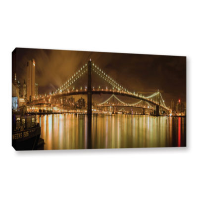 Brushstone Brooklyn Bridge Gallery Wrapped CanvasWall Art