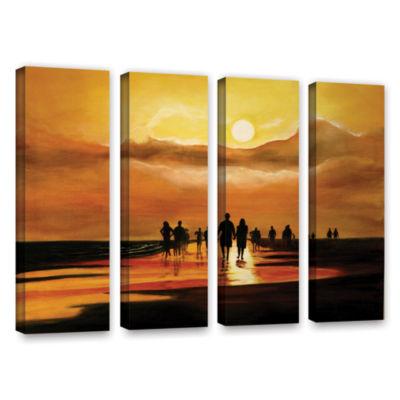 Brushstone Sunart1b 4-pc. Gallery Wrapped Canvas Wall Art