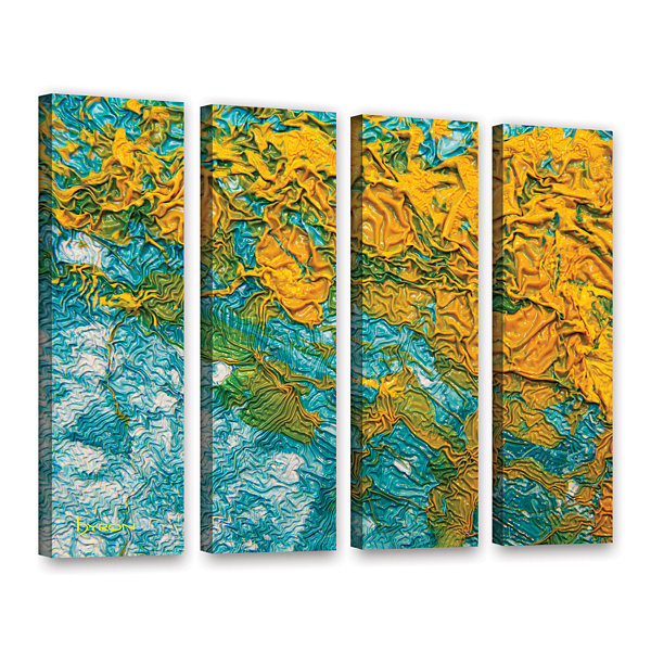 Brushstone Summer Breeze 4-pc. Gallery Wrapped Canvas Wall Art