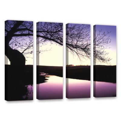 Brushstone Squaw Valley Twilight 4-pc. Gallery Wrapped Canvas Wall Art
