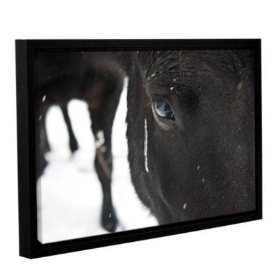 Brushstone Blackhorse1 Gallery Wrapped Floater-Framed Canvas Wall Art