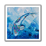 Blue Koi Canvas Wall Art