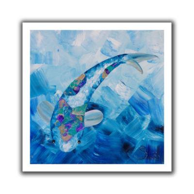 Blue Koi Canvas Wall Art