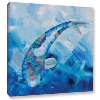 Blue Koi Gallery Wrapped Canvas Wall Art