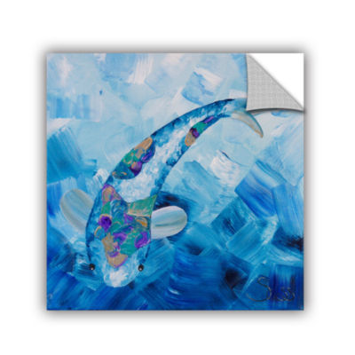 Blue Koi Removable Wall Decal