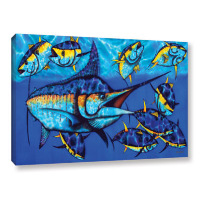 Blue Marlin Gallery Wrapped Canvas Wall Art