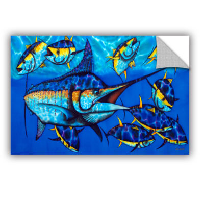 Blue Marlin Removable Wall Decal