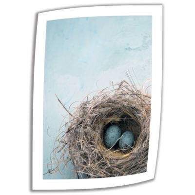 Blue Nest Canvas Wall Art