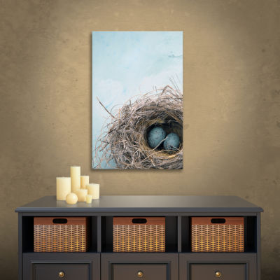 Blue Nest Gallery Wrapped Canvas Wall Art