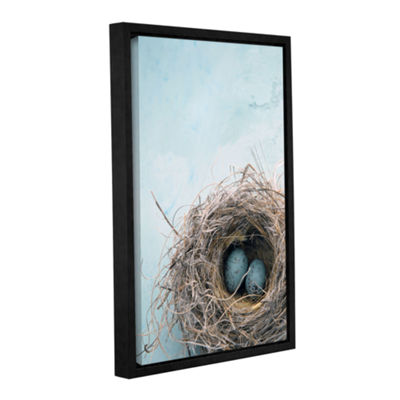 Blue Nest Gallery Wrapped Floater-Framed Canvas Wall Art