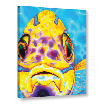 Blue Striped Snapper Gallery Wrapped Canvas Wall Art