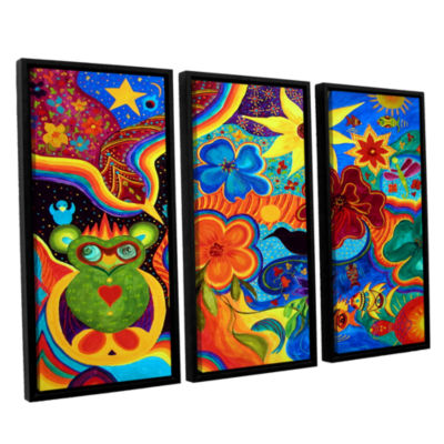 Bluebird Of Happiness 3-pc. Floater Framed CanvasWall Art