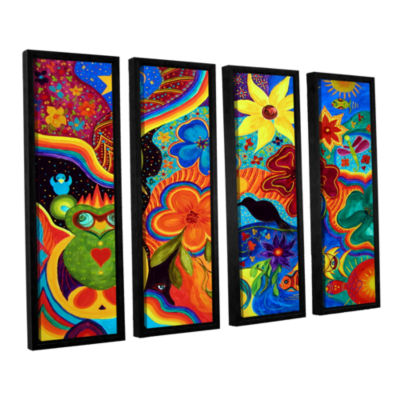 Bluebird Of Happiness 4-pc. Floater Framed CanvasWall Art