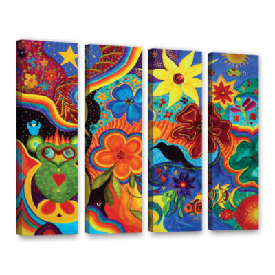 Bluebird Of Happiness 4-pc. Gallery Wrapped Canvas Wall Art