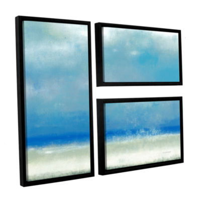 Blue Horizon 1 3-pc. Flag Floater Framed Canvas Wall Art