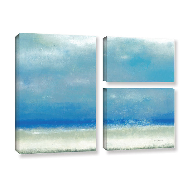 Blue Horizon 1 3-pc. Flag Gallery Wrapped Canvas Wall Art