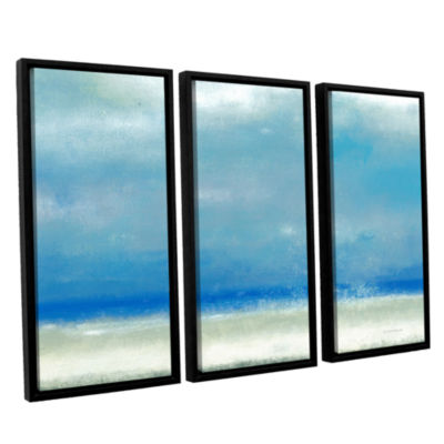 Blue Horizon 1 3-pc. Floater Framed Canvas Wall Art