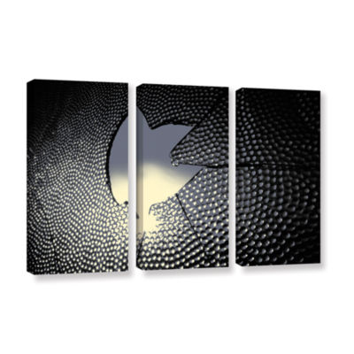 Brushstone Broken Peace 3-pc. Gallery Wrapped Canvas Wall Art