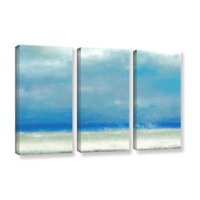 Blue Horizon 1 3-pc. Gallery Wrapped Canvas Wall Art