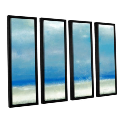 Blue Horizon 1 4-pc. Floater Framed Canvas Wall Art