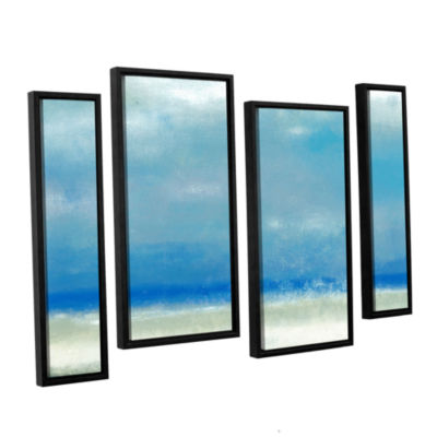 Blue Horizon 1 4-pc. Floater Framed Staggered Canvas Wall Art