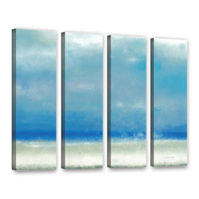 Blue Horizon 1 4-pc. Gallery Wrapped Canvas Wall Art