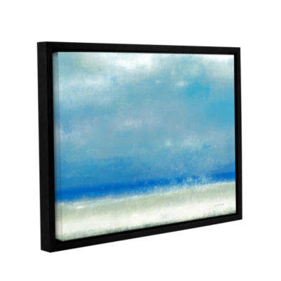 Blue Horizon 1 Gallery Wrapped Floater-Framed Canvas Wall Art