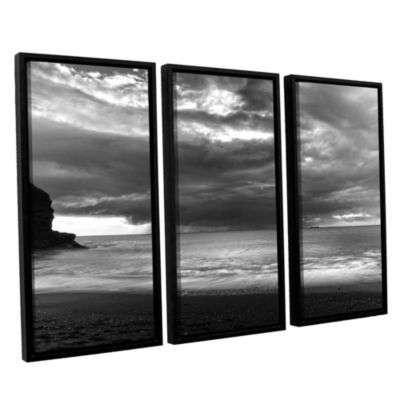 Boat On The Horizon 3-pc. Floater Framed Canvas Wall Art
