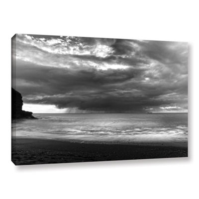 Boat On The Horizon Gallery Wrapped Canvas Wall Art