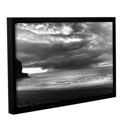 Boat On The Horizon Gallery Wrapped Floater-FramedCanvas Wall Art
