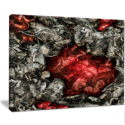 Designart Abstract Floral Texture Background LargeAbstract Canvas Artwork