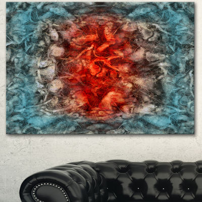 Designart Abstract Floral Texture Design Large Abstract Canvas Artwork