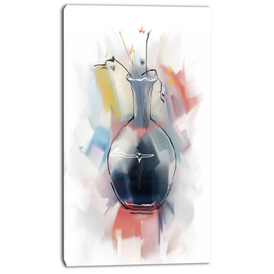 Designart Abstract Flowers In Vase Floral Canvas Art Print