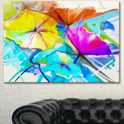 Designart Abstract Spring Flowers Still Life ExtraLarge Floral Wall Art