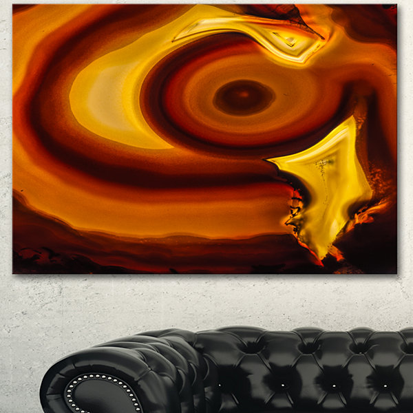 Designart Agate Geode Slice Macro Abstract CanvasWall Art Print