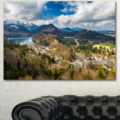 Design Art Alps And Lakes On Summer Day LandscapeCanvas Art Print 3 Panels