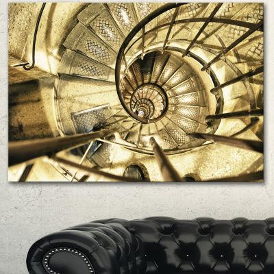 Designart Architectural Detail Of Paris In WinterAbstract Canvas Art Print