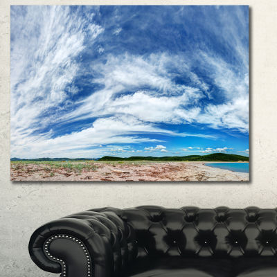 Designart Awesome Pacific Ocean Landscape CanvasArt Print