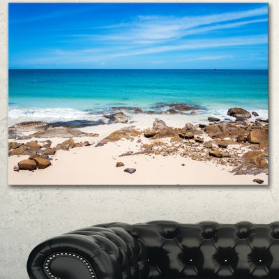 Designart Beach At Samed Island Thailand SeashorePhoto Canvas Art Print  3 Panels