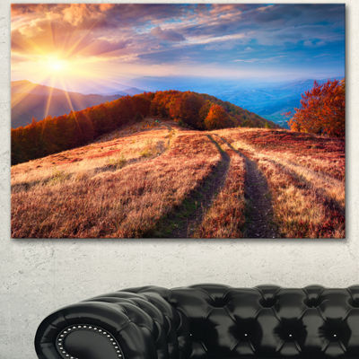 Designart Beautiful Carpathian Mountains LandscapeCanvas Art Print 3 Panels