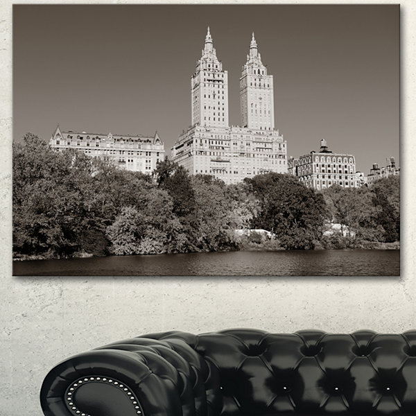 Designart Beautiful Central Park Autumn Extra Large Canvas Art Print
